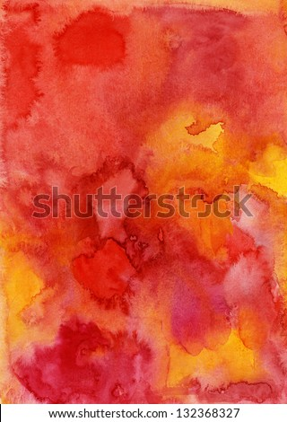 Watercolor painting background - stock photo