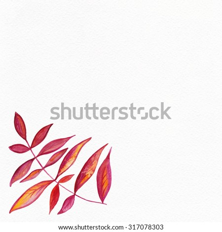 Watercolor Retro pattern with trees. Tree Pattern.  Pattern with watercolor graphic which can be used as wallpaper. Autumn layout. - stock photo