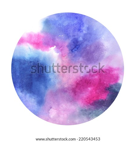 watercolor space circle - stock photo