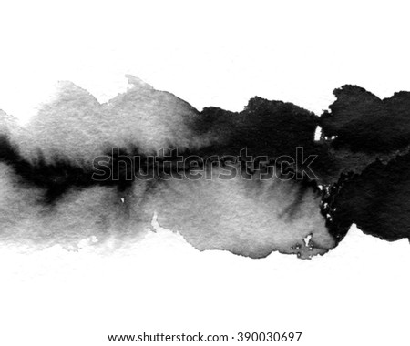 Watercolor spot, isolated on a white background. Beautiful watercolor design element. Abstract background. Watercolor technique on wet. - stock photo