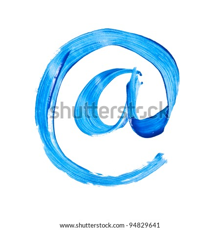 Watercolor symbol isolated over the white background - stock photo