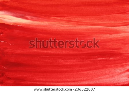 watercolor textured background red - stock photo
