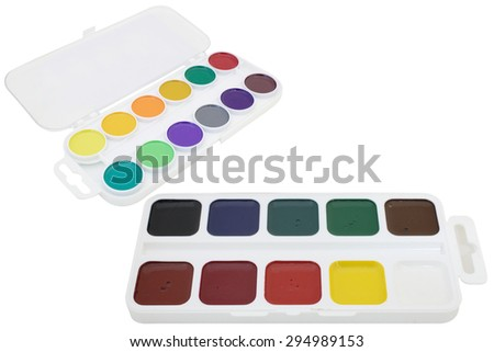 watercolor under the white background - stock photo
