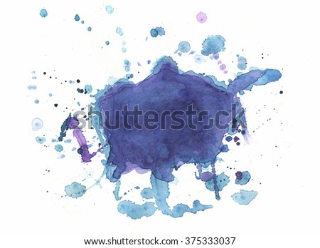 Watercolour hand-drawn texture background - stock photo