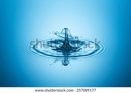 waterdrop impact liquidart - stock photo