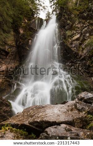 Waterfal in Tatra mountain, Sloviaka - stock photo