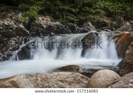 Waterfall. - stock photo