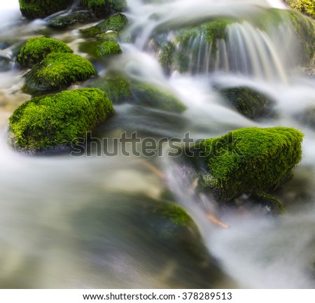 Waterfall - stock photo