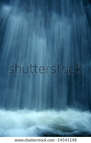Waterfall abstraction - stock photo