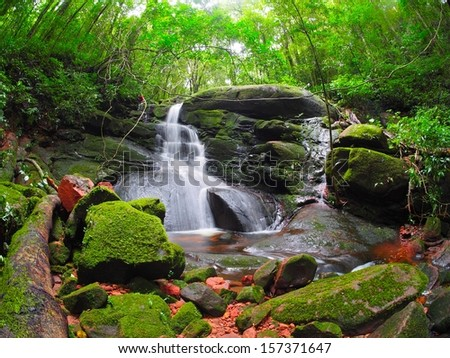 "waterfall at ""Poo soi dao"" national park, thailand - stock photo"
