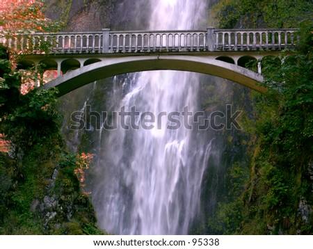 Waterfall Bridge - stock photo