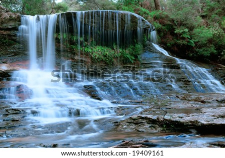 Waterfall in Blue Mountains New South Wales NSW Australia Pacific - stock photo