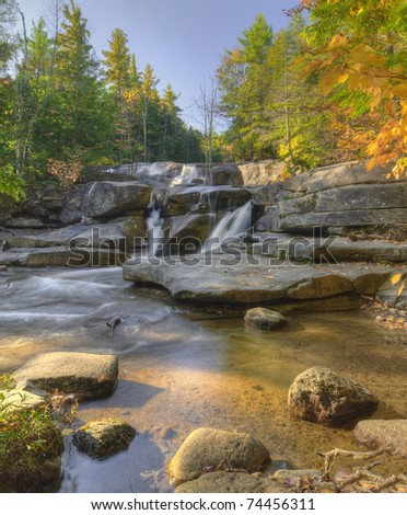 Waterfall in New Hampshire. - stock photo