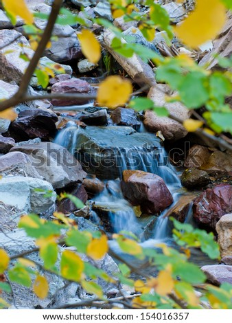 Waterfall in Ouray, Colorado. - stock photo