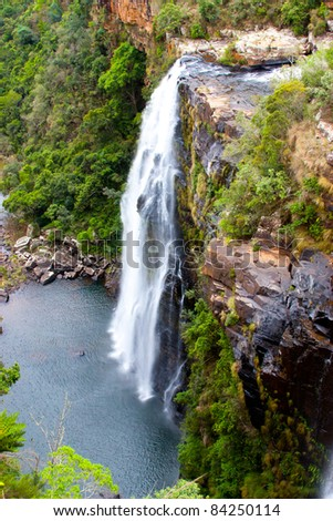 waterfall   in South Africa, Blyde river canyon - stock photo