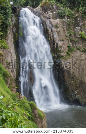 waterfall in Thailand - stock photo