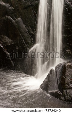 Waterfall in the forest, Thailand - stock photo