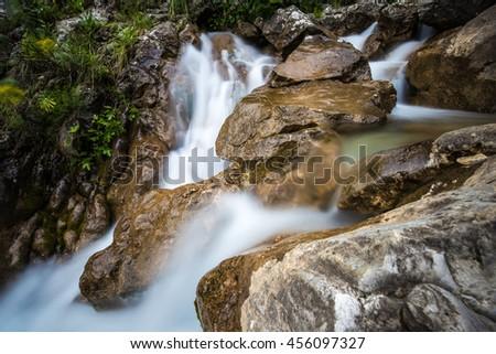 waterfall, Kotor, Montenegro - stock photo