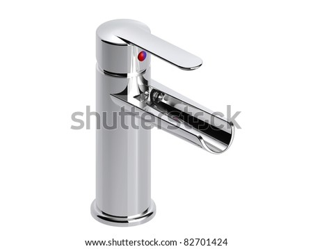 waterfall lavatory faucet - stock photo