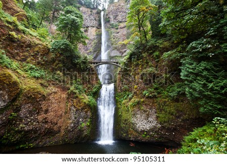 waterfall Multnomah - stock photo