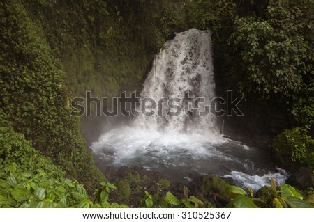Waterfall near Arenal Volcano, Costa Rica - stock photo