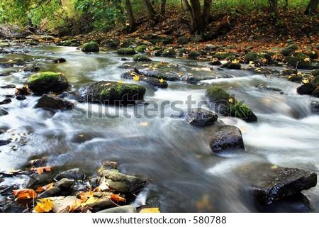 waterfalls - stock photo
