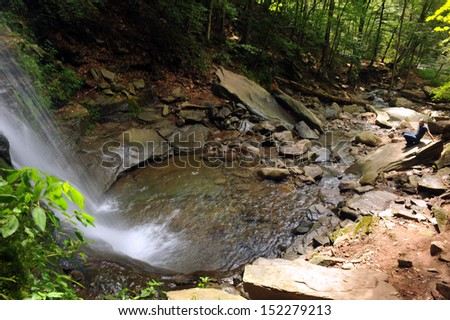 Waterfalls at Catskils mountains upstate NY at the summer time - stock photo