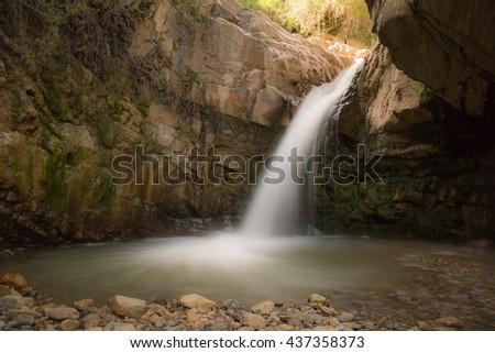 Waterfalls in Mistretta - Nebrodi Park - Sicily - stock photo