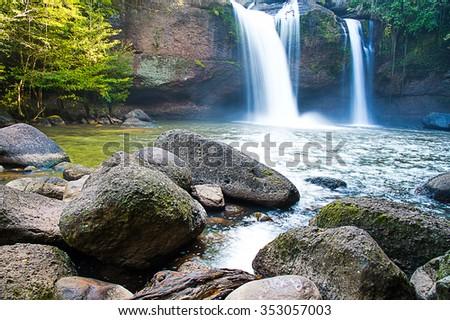 Waterfalls landscape - stock photo