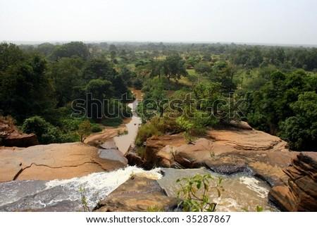 Waterfalls of Banfora in south west of Burkina Faso - stock photo