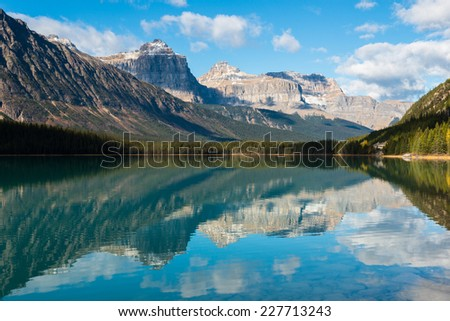 Waterfowl Lake, Banff National Park, Alberta, Canada - stock photo