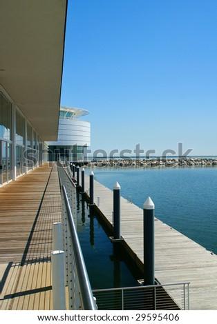Waterfront Apartment Scene. - stock photo