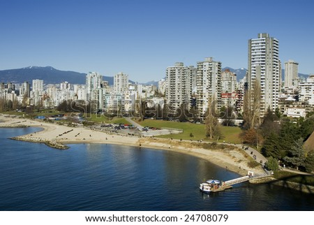 Waterfront condominiums in Vancouver, British Columbia, Canada - stock photo