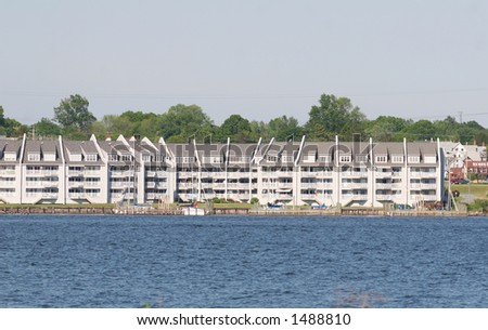Waterfront housing - stock photo