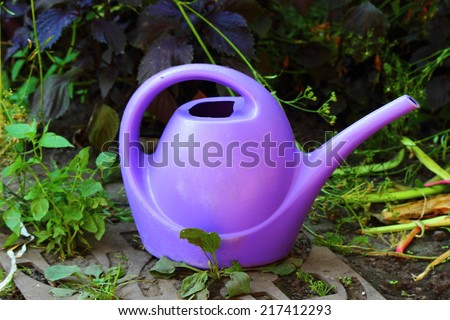 watering can for watering - stock photo