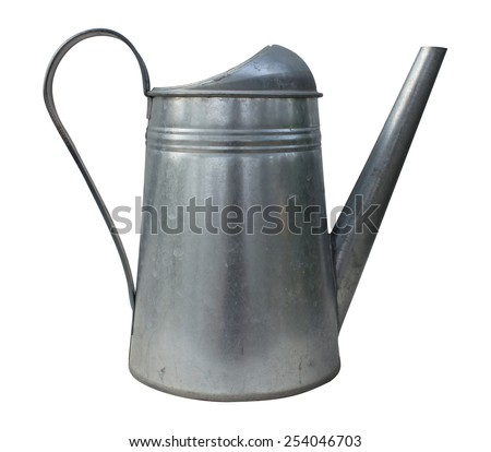 watering can Isolated white background. - stock photo