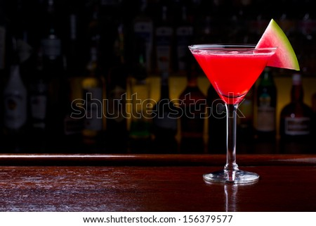 watermelon drink - stock photo