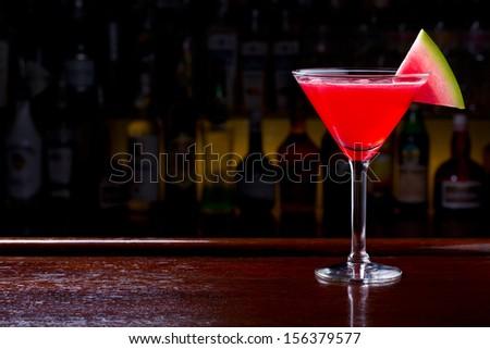 watermelon drink - stock photo