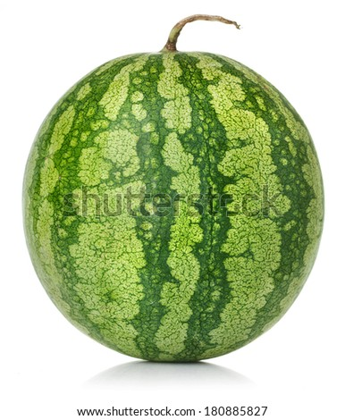 Watermelon on white background - stock photo
