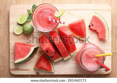 watermelon smoothie - stock photo
