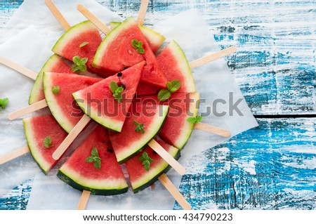 Watermelons Slices - stock photo