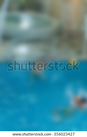 Waterpolo theme creative abstract blur background with bokeh effect - stock photo