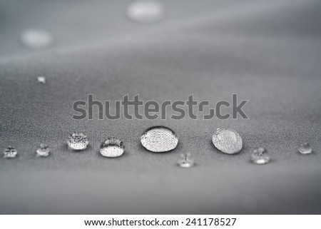 waterproof fabric texture, micro of waterdorps. - stock photo