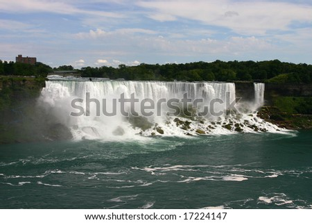 Waters of Niagara Falls, Canada - stock photo