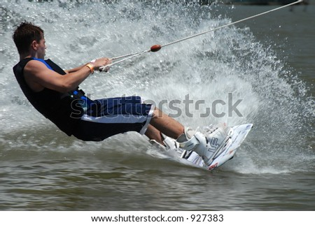 Waterskiier - stock photo