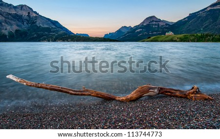 Waterton Lakes National Park is a UNESCO World Heritage Site and in my opinion one of the most beautiful places in Canada. - stock photo