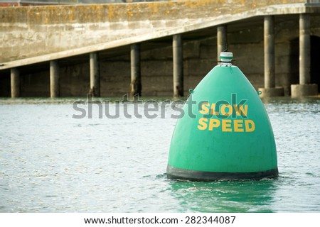 waterway buoy slow speed internet connection concept - stock photo