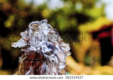waterworks - stock photo