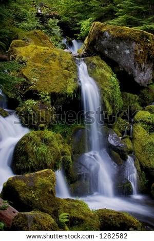 Watson Falls, Oregon - stock photo