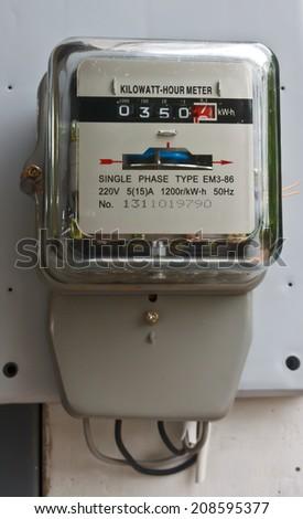 Watt hour Electric meter measurement tool home - stock photo